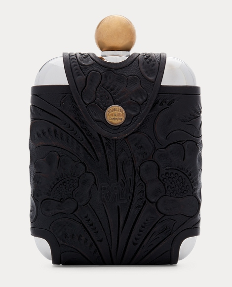 Tooled Leather Hip Flask
