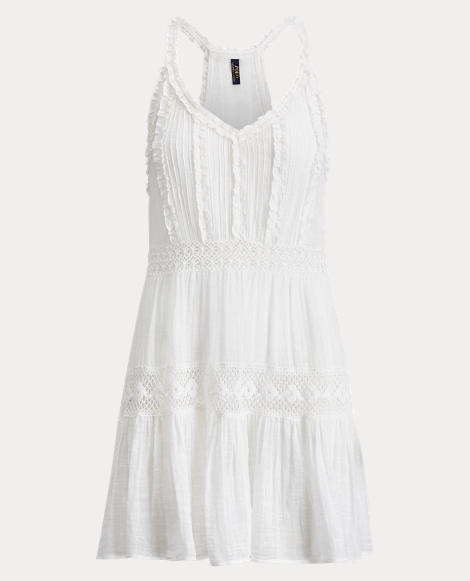 Ruffle-Trim Cotton Cover-Up