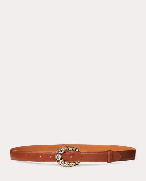 Jeweled Horseshoe Calf Belt