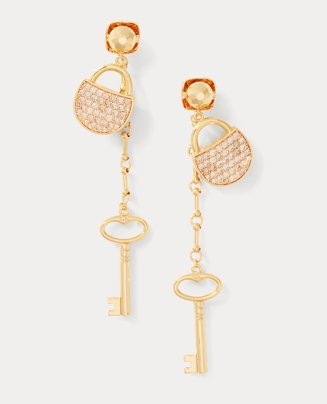 Padlock Crystal Earrings