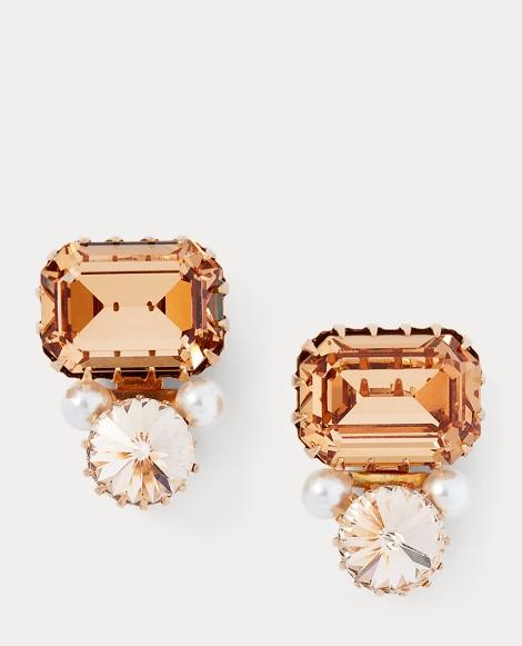 Crystal Pearl Studs