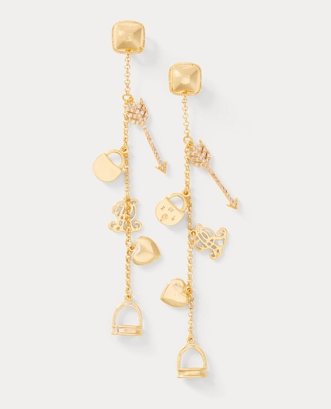 Gold-Plated Charm Earrings