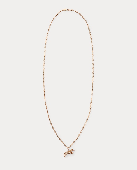 Gold-Plated Horse Necklace