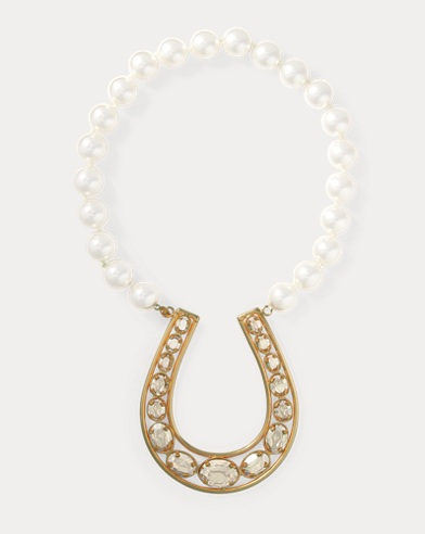 Horseshoe Faux-Pearl Necklace