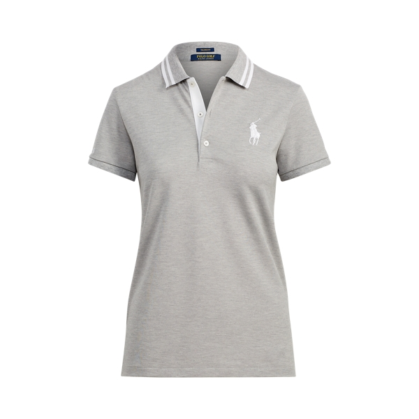 Ralph Lauren Tailored Fit Golf Polo Shirt Grey Heather Xs