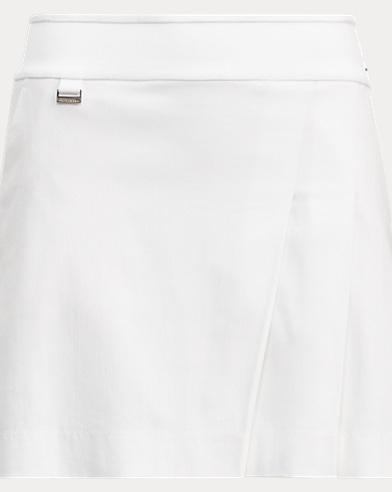 Pleated Stretch Cotton Skort