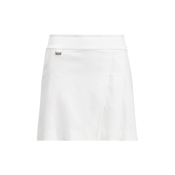 Ralph Lauren Pleated Stretch Cotton Skort White 2