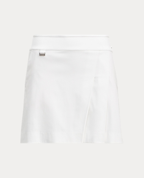 Pleated Stretch Cotton Skort