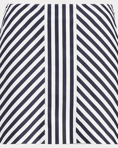 Striped Sateen Skort