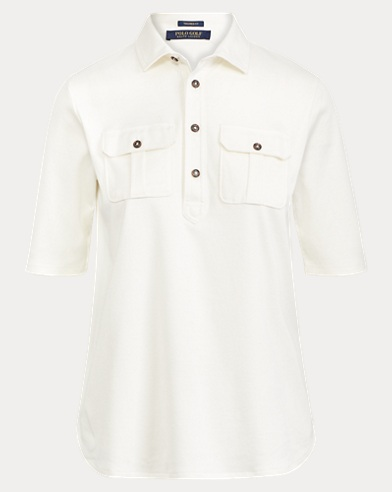 Tailored Fit Elbow-Sleeve Polo