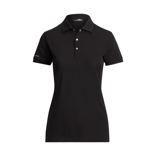 Ralph Lauren Tailored Fit Stretch Mesh Polo Polo Black Xs