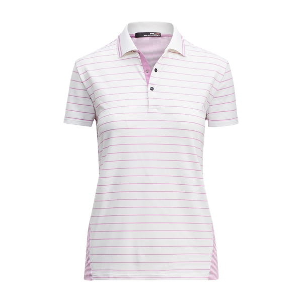 Ralph Lauren Classic Striped Polo Shirt White/Purple S