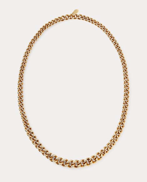 Gold-Plated Chain Necklace