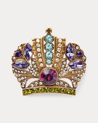 Crown Crystal Brooch