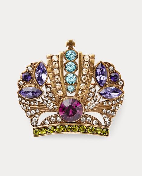Crown Crystal Brooch