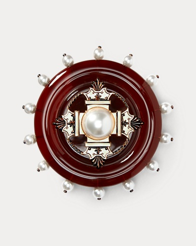 Crest Faux-Pearl Brooch