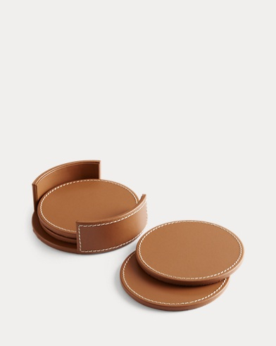 Wyatt Leather Coaster Set