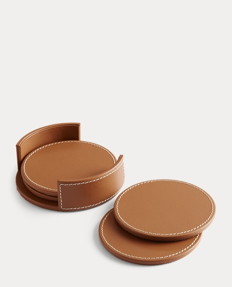 Wyatt Leather Coaster Set