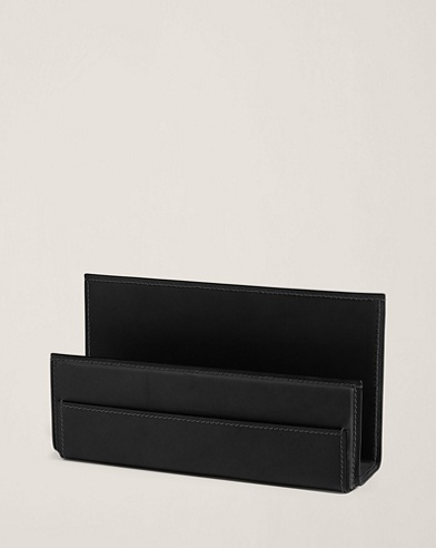 Brennan Leather Letter Rack