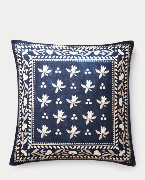 Judd Scarf-Print Throw Pillow
