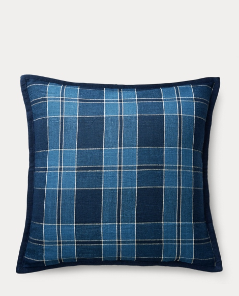 Evan Plaid Linen Throw Pillow