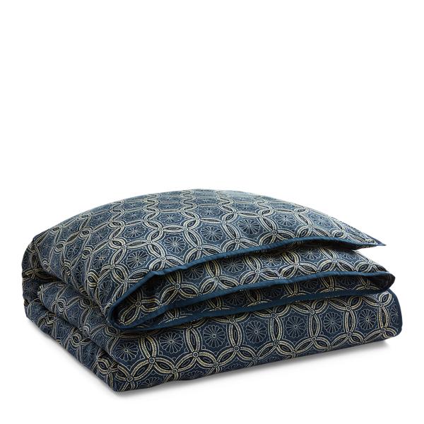 Ralph Lauren Moore Slub Cotton Duvet Cover Blue King