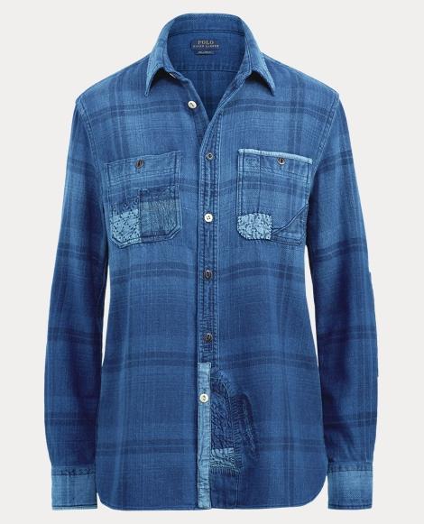 Patchwork Plaid Shirt