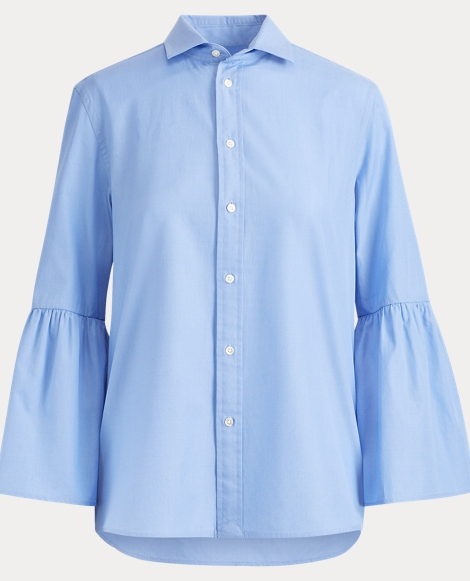 Cotton Bell-Sleeve Shirt