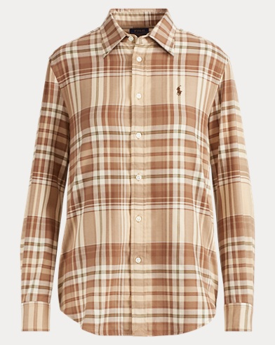 Relaxed Fit Plaid Twill Shirt