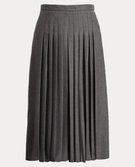 Whitney Pleated Wool Culotte