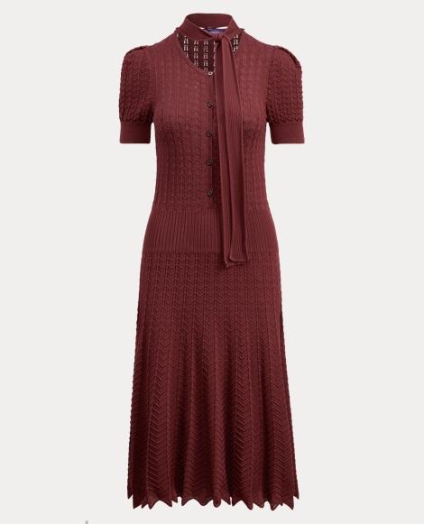 Stretch Silk Sweater Dress