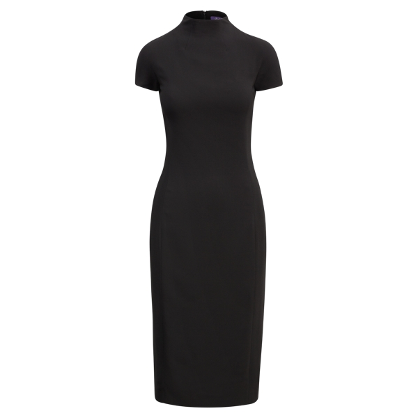 Ralph Lauren Jeanette Mockneck Dress Black 8