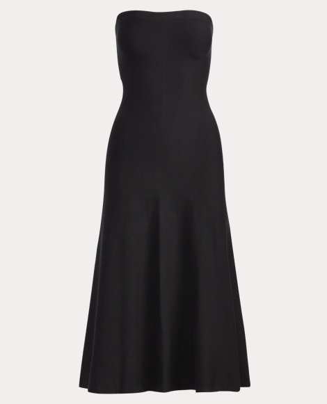 Knit Silk Strapless Dress