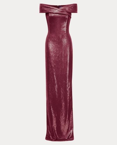 Charlene Off-the-Shoulder Gown
