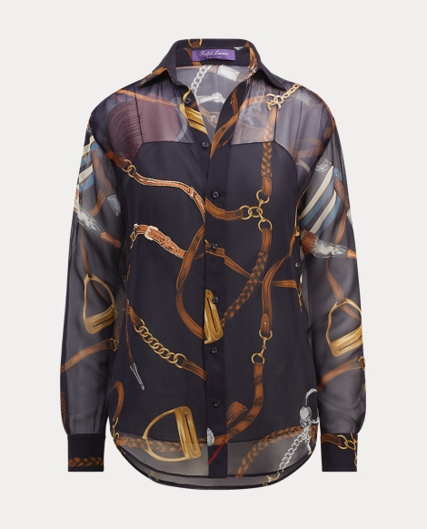 Cameron Equestrian Silk Shirt