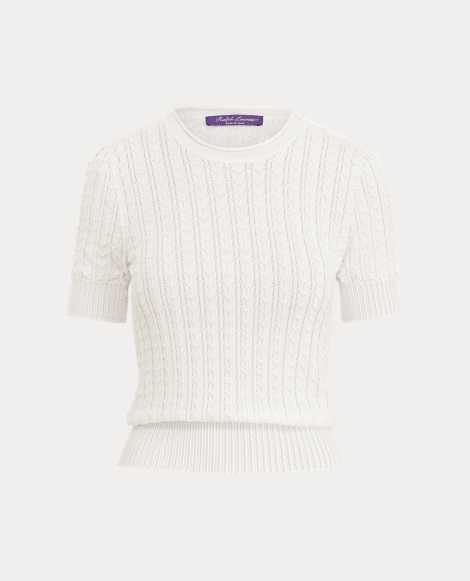 Pointelle Silk Sweater