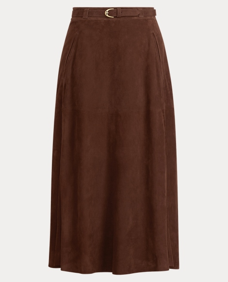 Carlton Suede Pencil Skirt