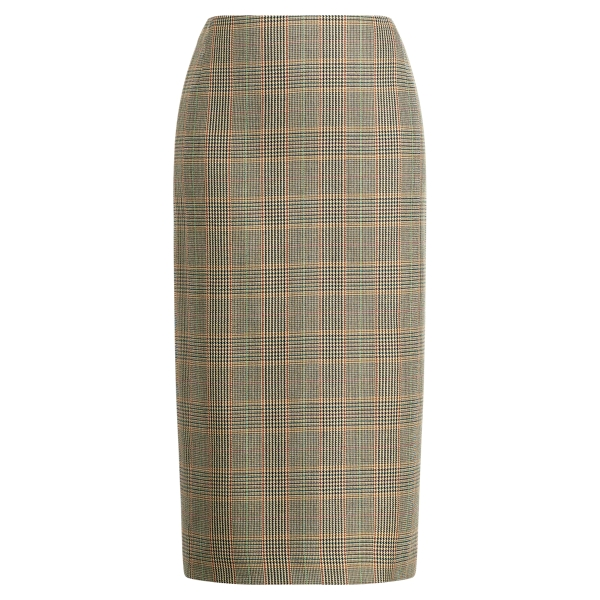 Ralph Lauren Cynthia Wool Pencil Skirt Multi 6