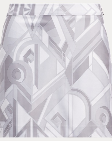 Art Deco-Print Jersey Skort