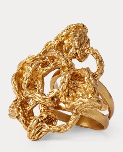 Interwoven Brass Ring
