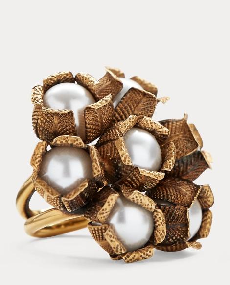 Flower Crystal-Pearl Ring