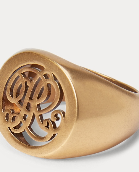 Gold-Plated Signet Ring
