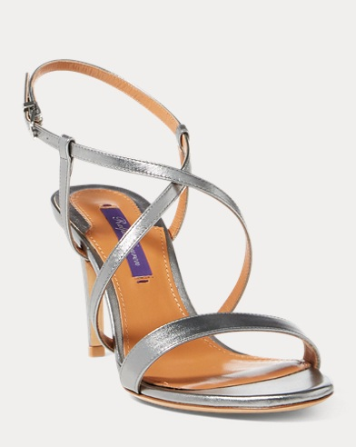 Arissa Metallic Leather Sandal
