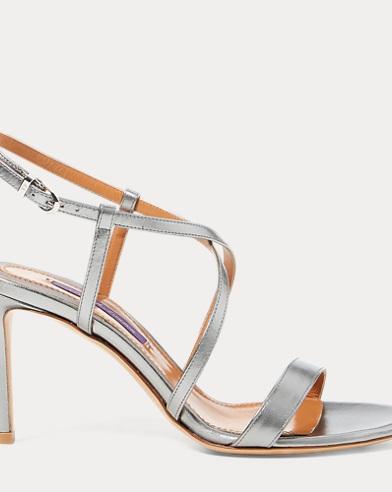 Arissa Metallic Leather Sandal