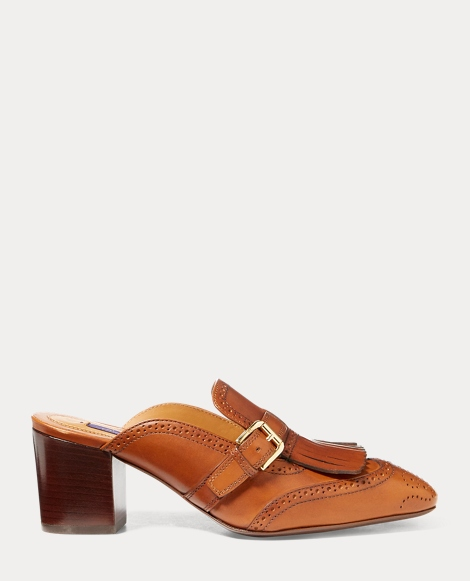 Avian Burnished Calfskin Mule
