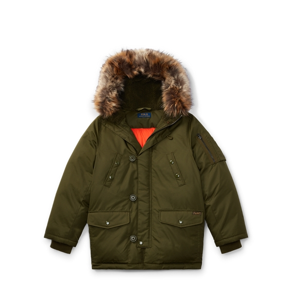 Ralph Lauren Hooded Down Jacket Fall Olive M