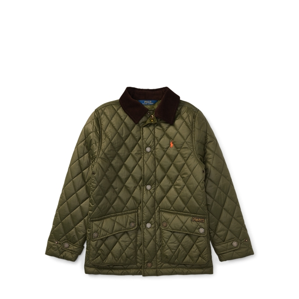 Ralph Lauren Quilted Barn Jacket Fall Olive L