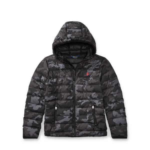 Ralph Lauren Packable Camo Down Jacket Black Camo S