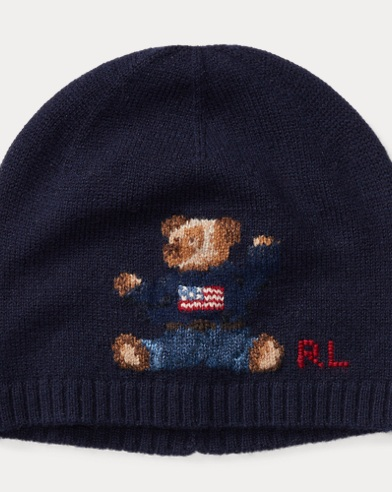 Polo Bear Merino Wool Hat