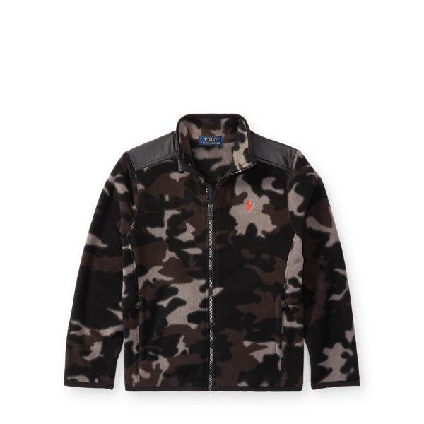 Ralph Lauren Camo Fleece Hybrid Jacket Black Camo S